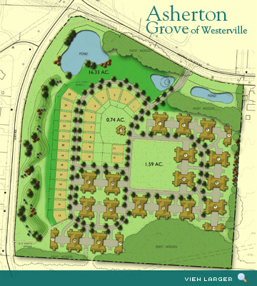 Cobbleton Grove of Canal Winchester Luxury Condo's Site Map