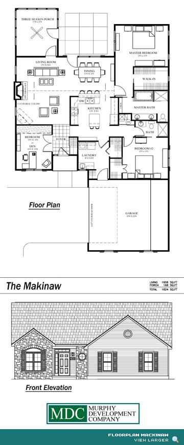 Floor Plan Mackinaw Asherton Grove Luxury Condominium