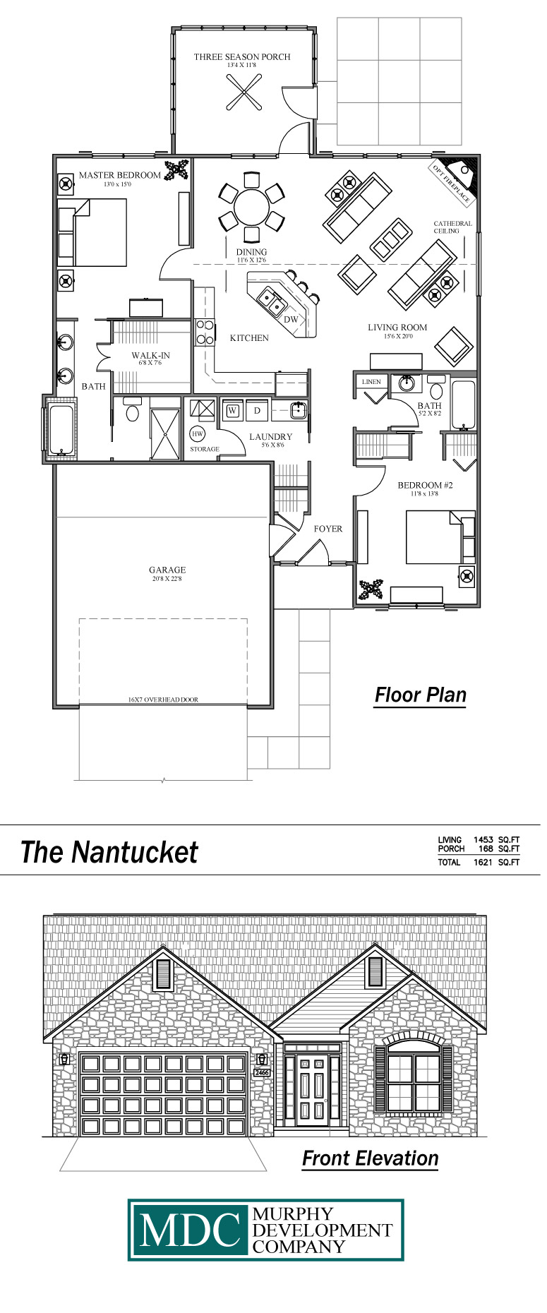 Floorplans luxury condominium ranch style homes from for Nantucket floor plan
