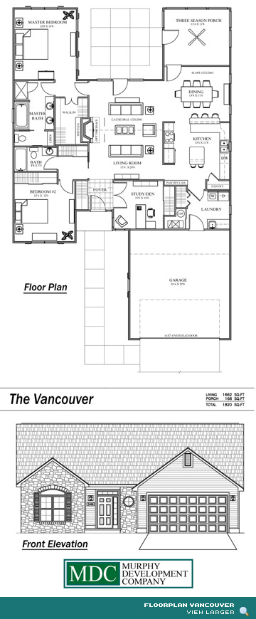 Floor Plan Vancouver Asherton Grove Luxury Condominium